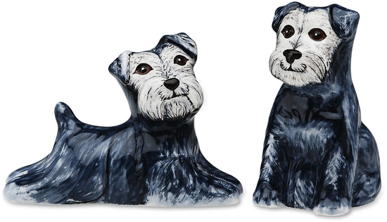 Isabelle & Rudy-Schnauzer Dog Salt and Pepper Shaker Set