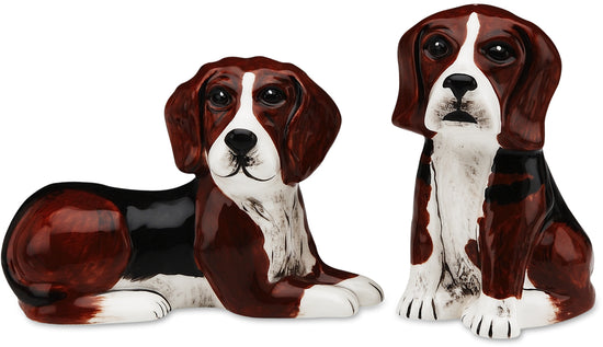 Mandy & Sadie Beagle Dog Salt and Pepper Shaker Set