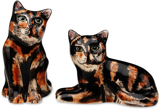 MaryBeth & Jazzi Tortoiseshell Cat Salt and Pepper Shaker Set
