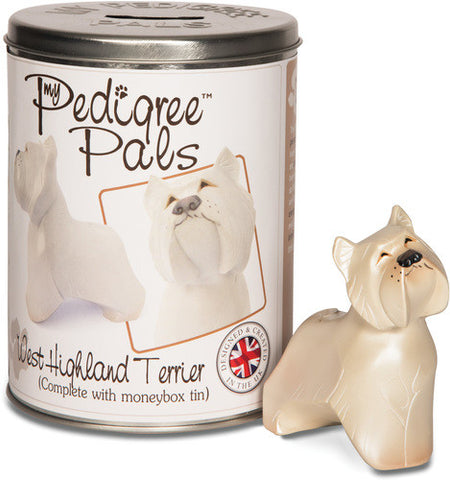 Westie Figurine Coin Bank by My Pedigree Pals - Beloved Gift Shop