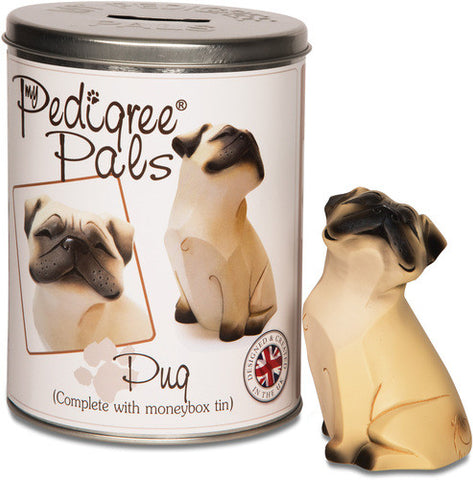 Pug Figurine Coin Bank by My Pedigree Pals - Beloved Gift Shop