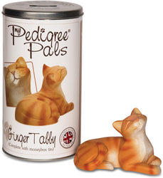 Ginger Tabby Figurine Coin Bank