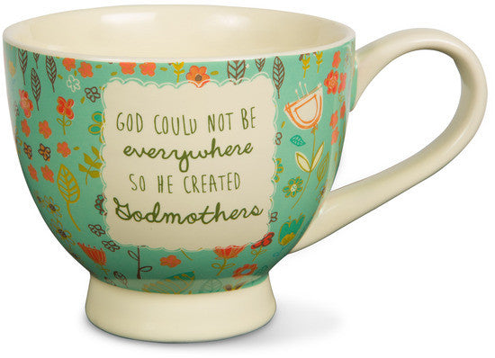 God could not be everywhere so he created godmothers Soup Bowl Mug Soup Bowl / Mug - Beloved Gift Shop