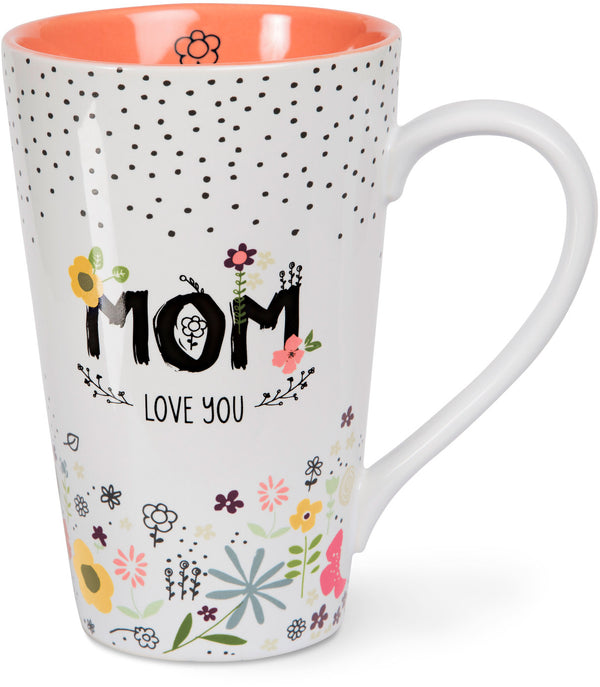 Mom love you Latte Mug Latte Mug - Beloved Gift Shop