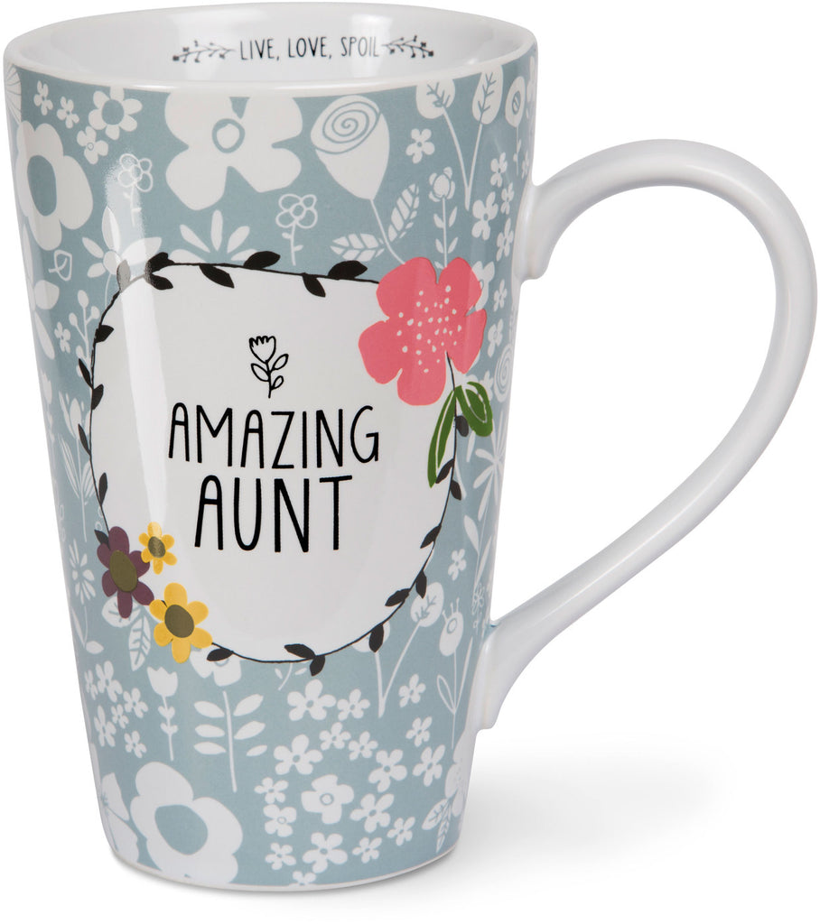 Amazing Aunt Latte Mug Latte Mug - Beloved Gift Shop