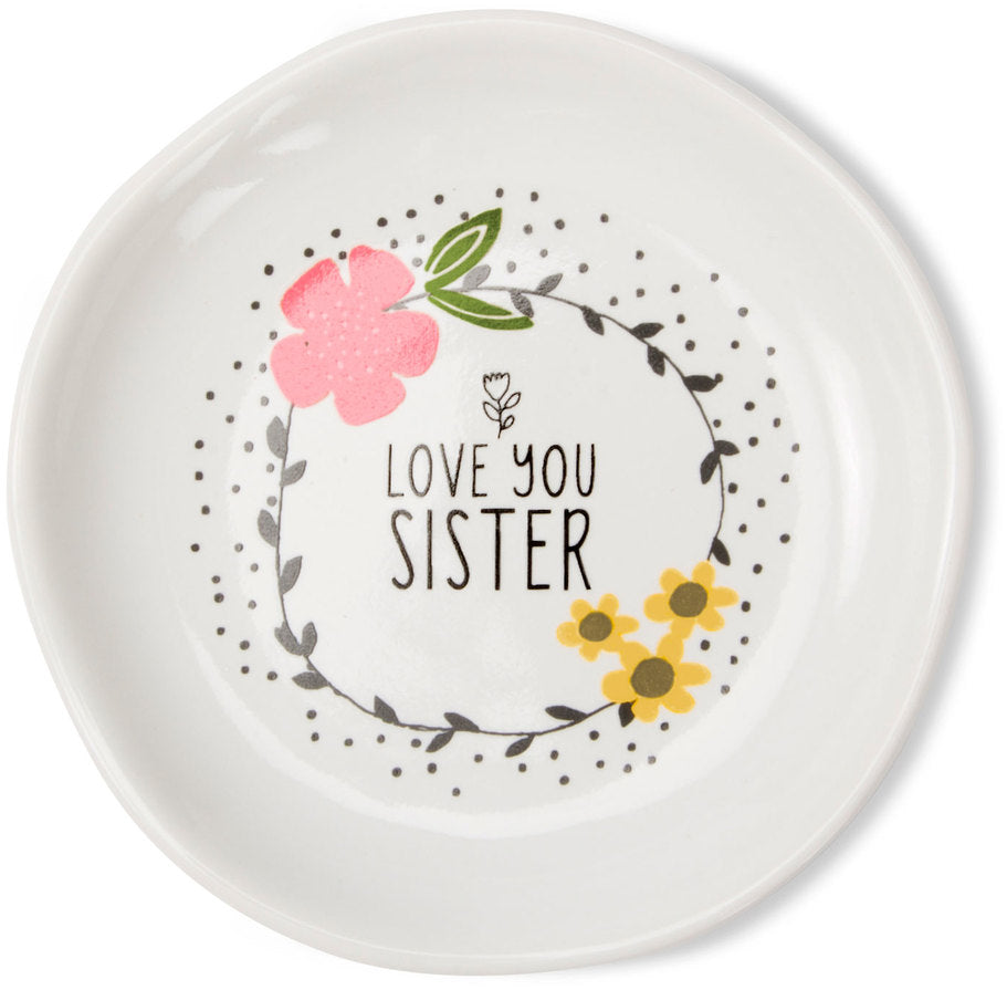 Love you Sister Keepsake Dish Keepsake Dish - Beloved Gift Shop