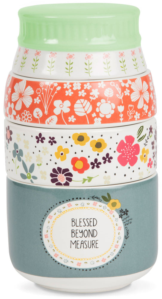 Blessed Beyond Measure Stacked Measuring Cups