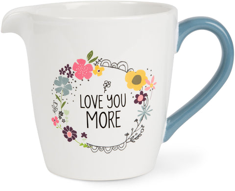 Love You More 1 Quart Ceramic Measuring Bowl Measuring Bowl - Beloved Gift Shop