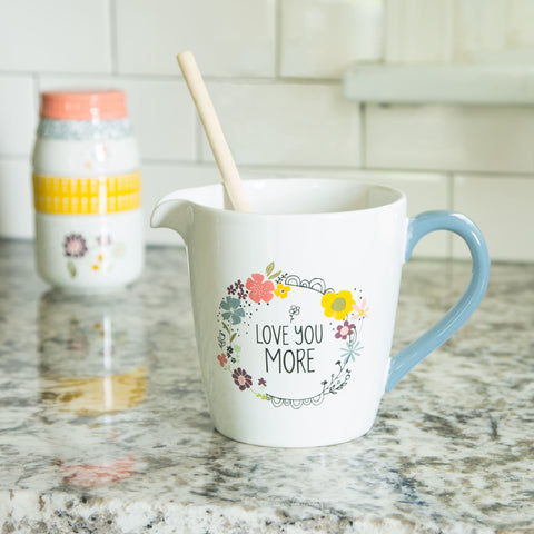 Love You More - 1 Quart Ceramic Measuring Bowl by Love You More - Beloved Gift Shop