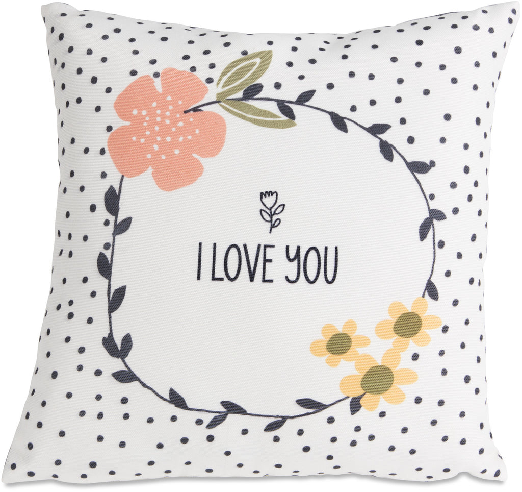 I Love You Micromink Throw Pillow Throw Pillow - Beloved Gift Shop