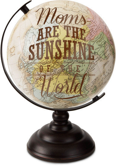 Moms are the Sunshine of the World Decorative Desktop Globe Decorative Globe - Beloved Gift Shop