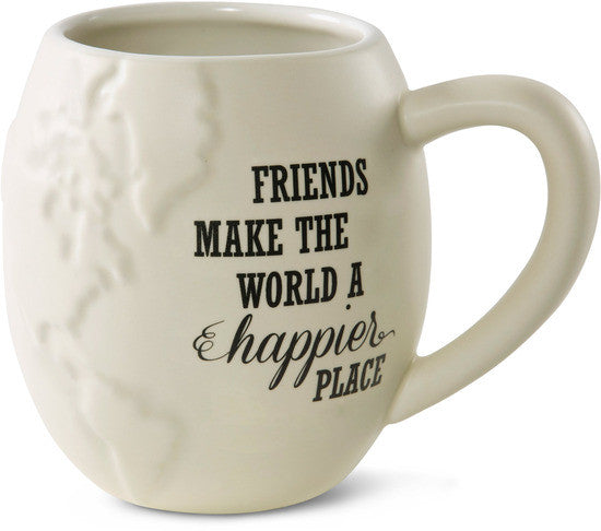 Friends make the World a happier place Mug by Global Love - Beloved Gift Shop