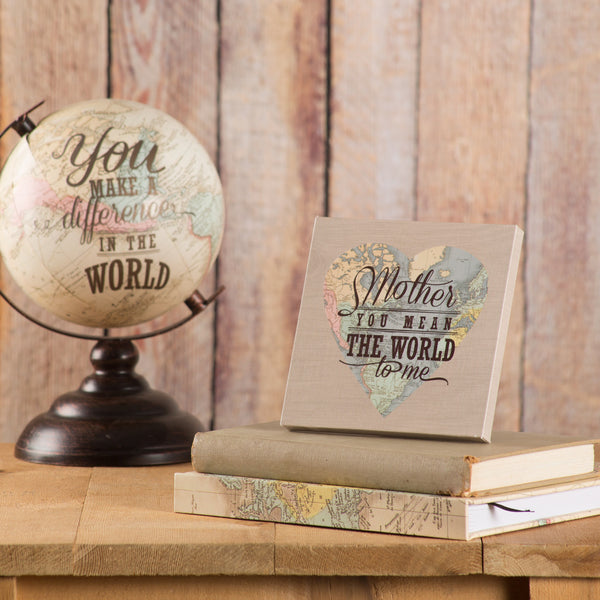 Mother you mean the World to me Globe Plaque Plaque - Beloved Gift Shop