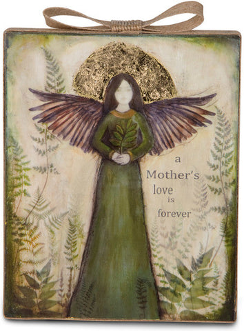 A Mother's love is forever - Forest Angel Plaque by Sherry Cook Studio - Beloved Gift Shop