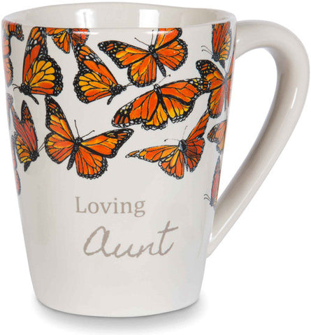 Loving Aunt - Monarch Butterfly Coffee & Tea Mug by Sherry Cook Studio - Beloved Gift Shop