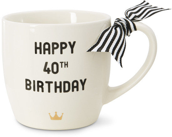 Happy 40th Birthday Coffee Tea Beverage Mug Mug - Beloved Gift Shop