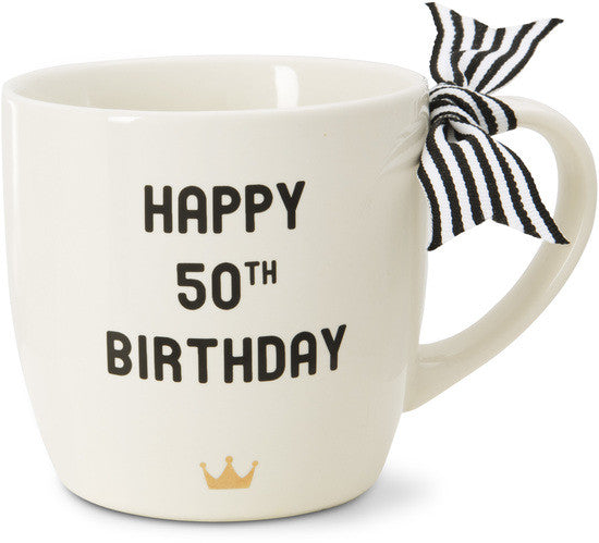 Happy 50th Birthday - Coffee & Tea Mug by The Milestone Collection - Beloved Gift Shop