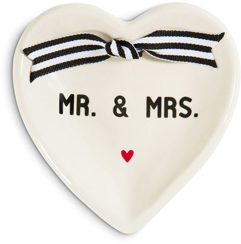 Mr. & Mrs. - Heart Shaped Keepsake Dish by The Milestone Collection - Beloved Gift Shop