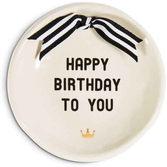 Happy Birthday to You Round Keepsake Dish