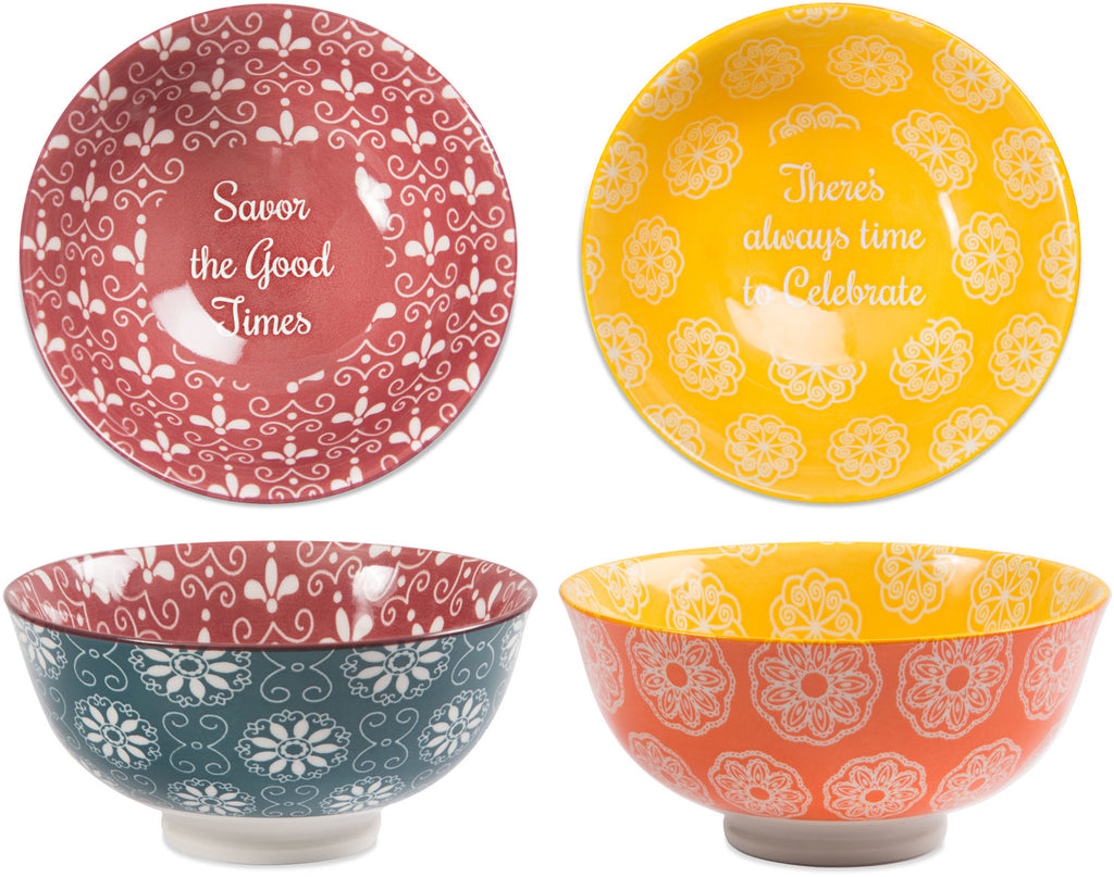 Savor & Celebrate Porcelain Bowl Set Bowl Sets - Beloved Gift Shop