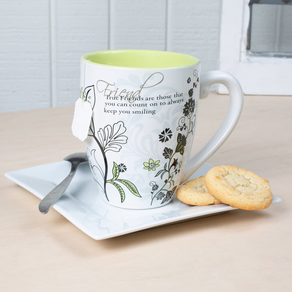 True Friends are those that you can count on to always keep you smiling Coffee Tea Beverage Mug Mug - Beloved Gift Shop