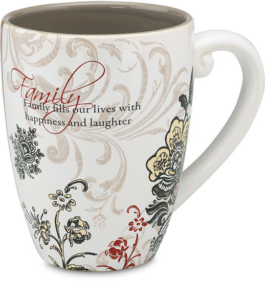 Family fills our lives with happiness and laughter Coffee Tea Beverage Mug Mug - Beloved Gift Shop