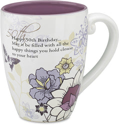 Happy 50th Birthday...May it be filled with all the happy things you hold Coffee Tea Beverage Mug