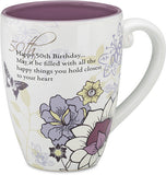 Happy 50th Birthday...May it be filled with all the happy things you hold closest to your heart Coffee & Tea Mug by Mark My Words - Beloved Gift Shop