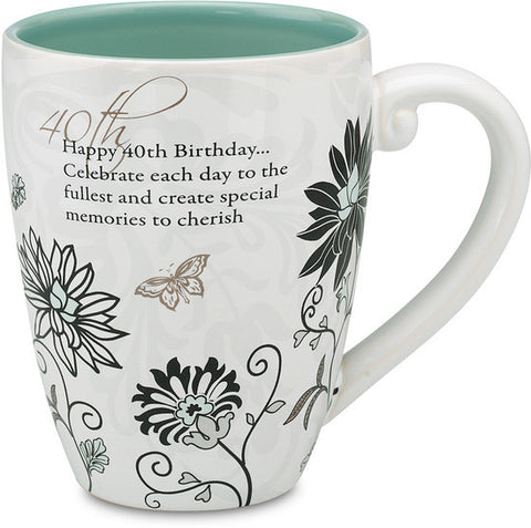 Happy 40th Birthday...Celebrate each day to the fullest Mug by Mark My Words - Beloved Gift Shop