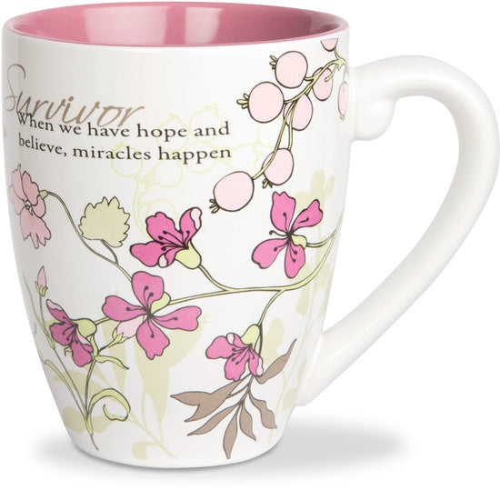 Survivor.. When we have hope and believe, miracles happen Mug by Mark My Words - Beloved Gift Shop