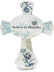 Believe in Miracles Self Standing Cross