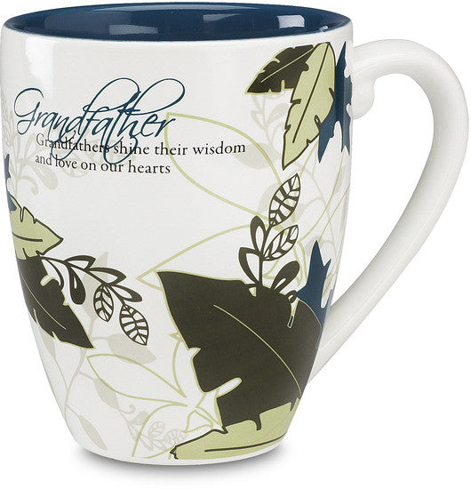 Grandfathers shine their wisdom and love on our hearts Mug by Mark My Words - Beloved Gift Shop