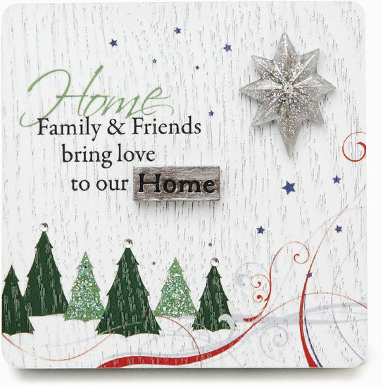 Family and Friends bring love to our Home Plaque Plaque - Beloved Gift Shop