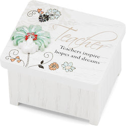 Teachers inspire hopes and dreams Keepsake Box