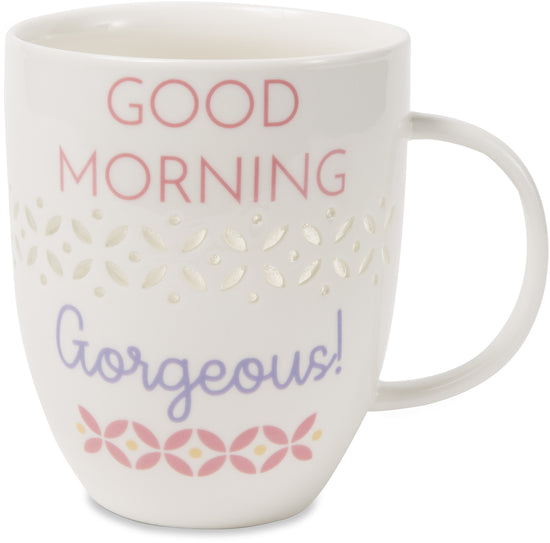 Good morning gorgeous! Pierced Porcelain Cup