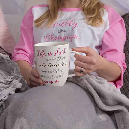 9878e7ac98429 Life is short, buy the shoes, drink the wine Porcelain Cup Coffee Tea  Beverage Mug