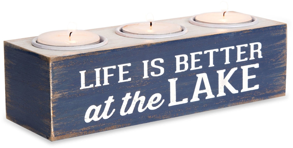 Life is Better at the Lake - MDF Tea Light Holder by We People - Beloved Gift Shop