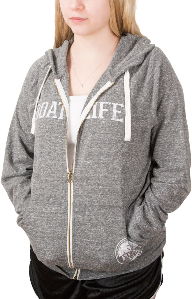 Boat Life Dark Gray Unisex Hooded Sweatshirt Hoodie - Beloved Gift Shop
