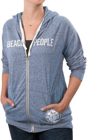 Beach People - Blue Unisex Hooded Sweatshirt by We People - Beloved Gift Shop