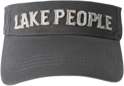 Lake People Unisex Dark Gray Adjustable Visor Hat