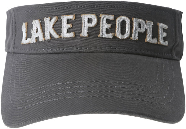Lake People Unisex Dark Gray Adjustable Visor Hat Visor Hat - Beloved Gift Shop