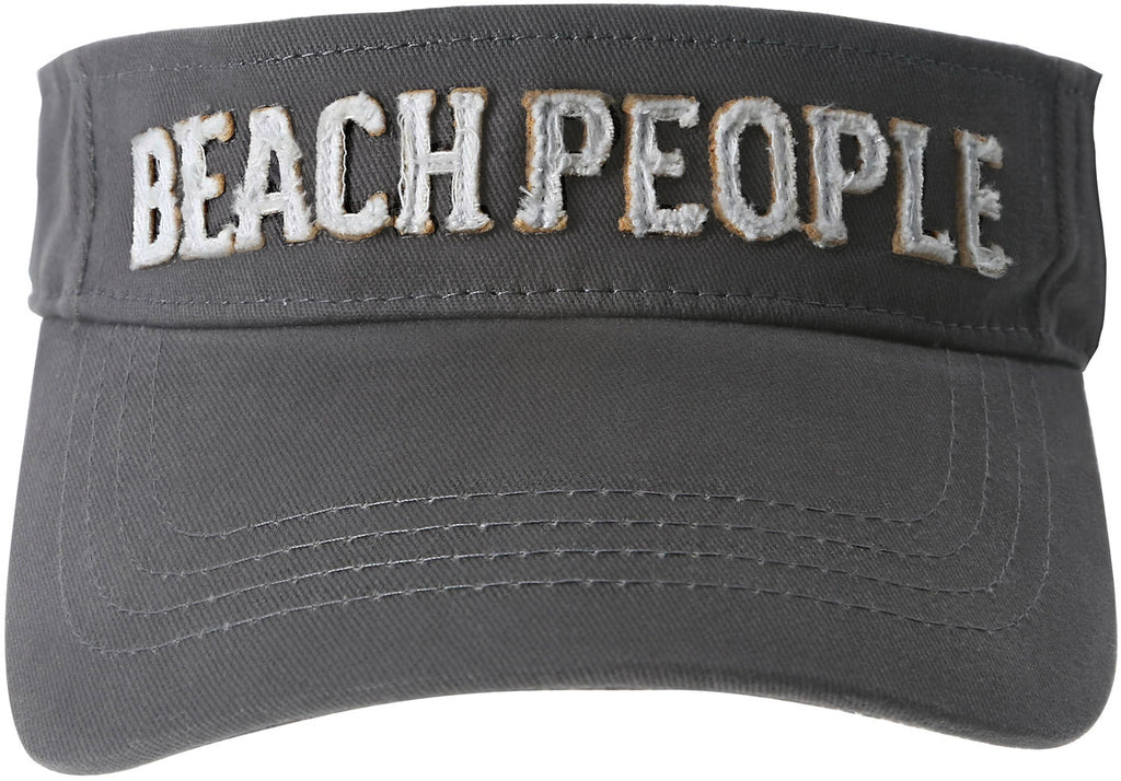 Beach People Unisex Dark Gray Adjustable Visor Hat Visor Hat - Beloved Gift Shop