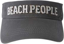 Beach People Unisex Dark Gray Adjustable Visor Hat