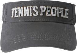 Tennis People Unisex Dark Gray Adjustable Visor Hat