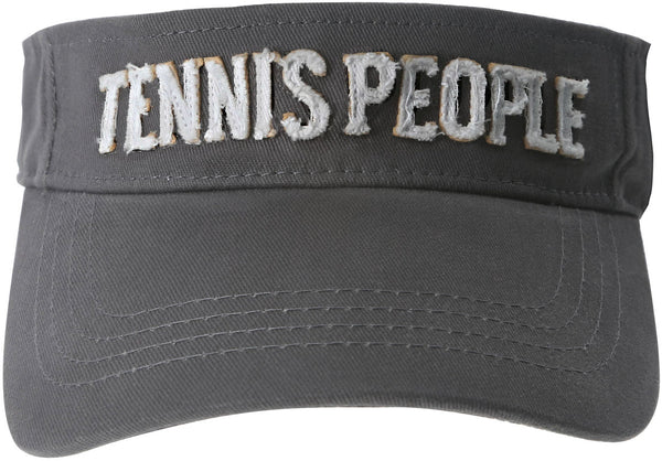 Tennis People Unisex Dark Gray Adjustable Visor Hat Visor Hat - Beloved Gift Shop