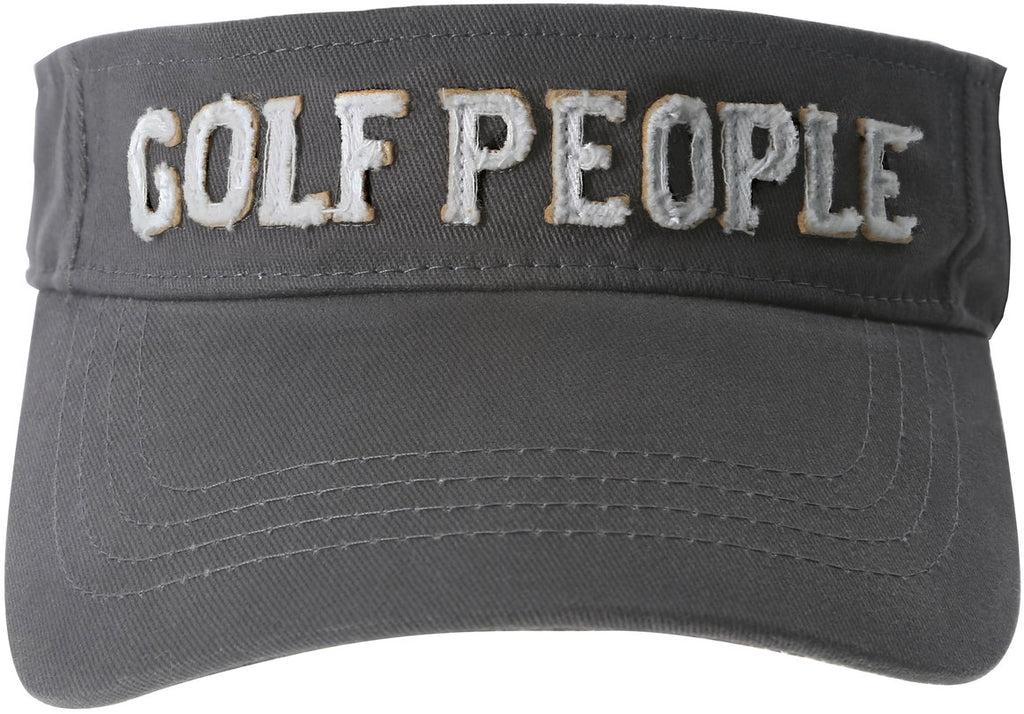 Golf People Unisex Dark Gray Adjustable Visor Hat Visor Hat - Beloved Gift Shop