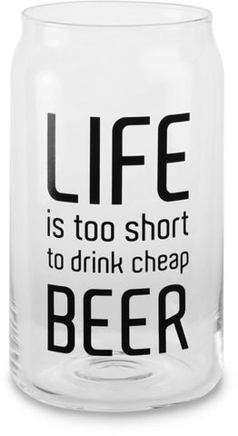 Life is too short to drink cheap beer - Beer Can Glass Tea Light Holder by Man Crafted - Beloved Gift Shop