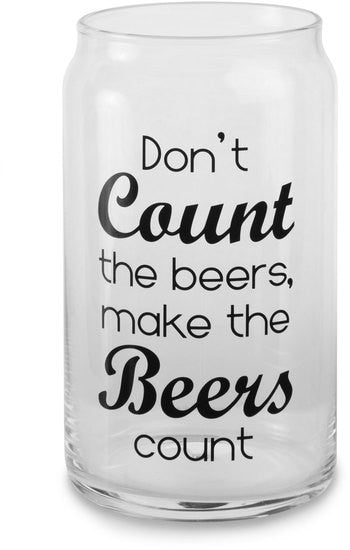 Don't count the beers make the beers count - Beer Can Glass Tea Light Holder by Man Crafted - Beloved Gift Shop