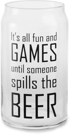 It's all fun and games until someone spills the beer - Beer Can Glass Tea Light Holder by Man Crafted - Beloved Gift Shop