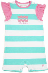 Pink and Aqua Lake Baby Romper